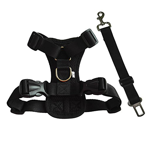 HANCIN Pet Vest Harnesses with Car Seat Belt for Dogs and Cats