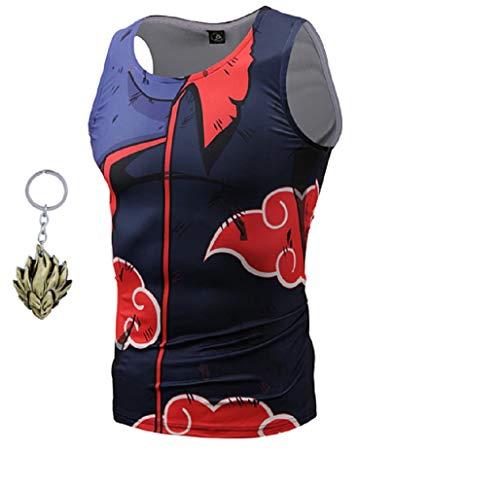JarilnMo Dragon Ball z Armor t-Shirt Cosplay Goku Vegeta DBZ Sleeveless Battle Costume with Free -