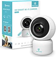 HeimVision HM203 Security Camera, 1080P Surveillance WiFi Camera with Night Vision/PTZ/Two-Way Audio, 2.4Ghz W