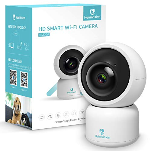 Heimvision HM203 Security Camera, 1080P Surveillance WiFi Camera with Night Vision/PTZ/Two-Way Audio,2.4Ghz Wireless Home IP Camera for Pet/Baby/Elder/Dog Camera Monitor, Cloud Service/MicroSD Support