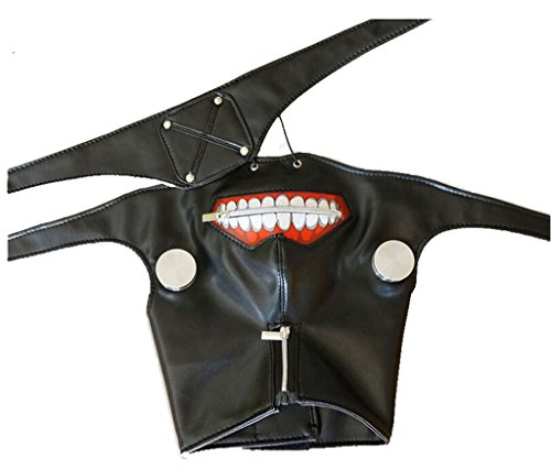 [Tokyo Ghoul Stage Props Zipper Mask Cos Props Mask] (Zipper Face Costume Makeup)