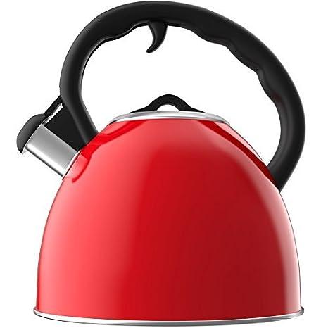 Vremi Whistling Tetera para Estufa - Tetera de 2 litros Caldera de té de acero inoxidable