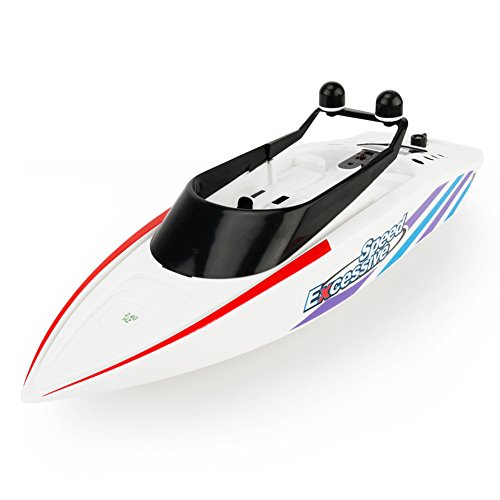 Zlimio 2.4G Kids Children Water Toy 4CH Waterproof Electric Remote Control RC Racing Speedboat Boat