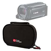 DURAGADGET High Quality Shock-Absorbing & Ultra-Portable Neoprene Camcorder Case in Black for the NEW Canon VIXIA HF R60 / VIXIA HF R62 / VIXIA HF R600