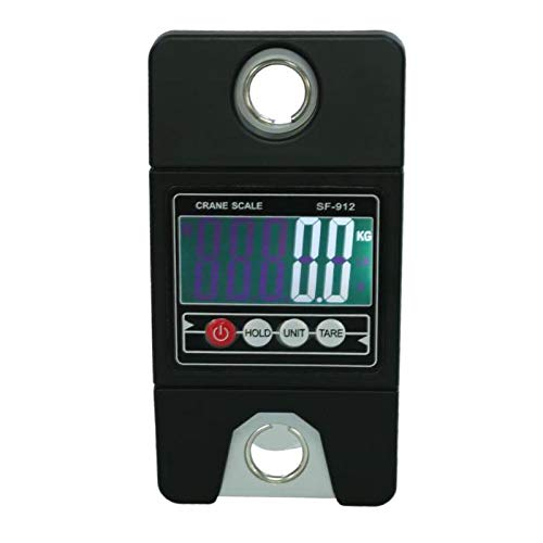 SODIAL Mini Portable 300Kg Industrial Crane Scale Handle Digital LCD Electronic Scale Heavy Duty Hanging Weight Hook Scale