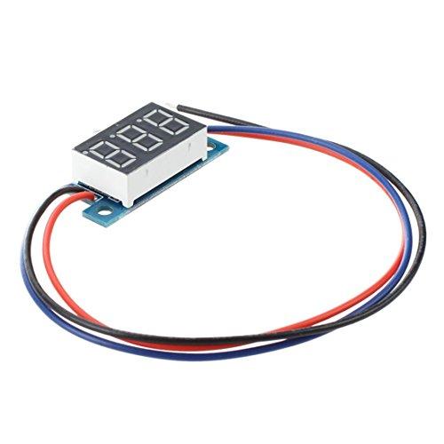 Voltmeter - TOOGOO(R) Mini LED Display Digital Voltmeter Panel Voltage Meter DC 3 - 200V