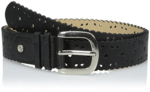 Relic Jean - Relic Womens Jean Scallop Edge Perforated Belt, Black, X-Large