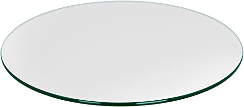 TroySys – 3 8 Thick Round Circle Glass Table Top 36 USA Premier Glass Maker High Strength Tempered Glass with Pencil Polish Edge Durable Lightweight Glass Table or Topper