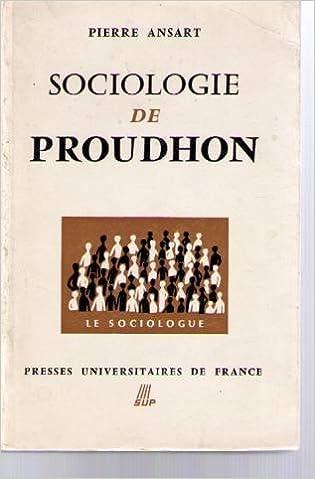 Livre gratuits Sociologie de Proudhon pdf, epub