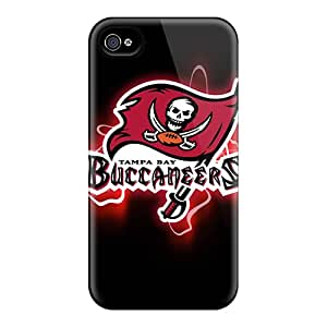 Iphone 4/4s OSs16330DqXW Allow Personal Design Realistic Tampa Bay Buccaneers Skin Scratch Resistant Hard Phone Case -KaraPerron