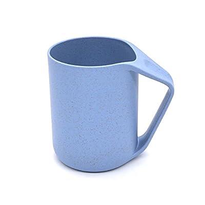 Enjoymart Wheat Straw Plastic Mug, Tumbler, Cup for Hot Water, Coffee, Juice, Tea via Eco Friendly Healthy Biodegradable Material (fl.13.5oz, Pack of 1)