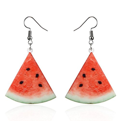 Ring Fruit - Auwer Clearance Earrings ! Large Fruit Strawberry Pineapple Drop Dangle Hook Earrings Women Jewelry Gift (C)