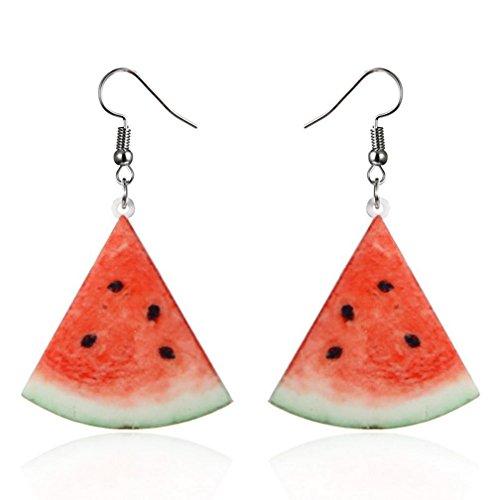 Ring Fruit - Auwer Clearance Earrings ! Large Fruit Strawberry Pineapple Drop Dangle Hook Earrings Women Jewelry Gift (C)