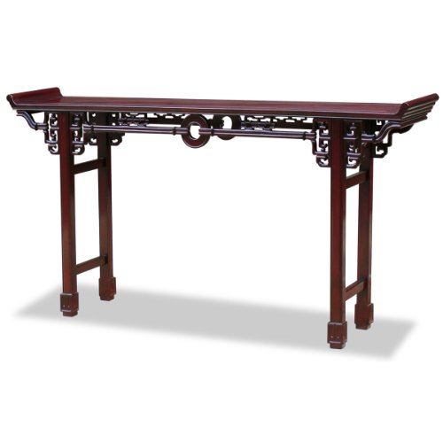 ChinaFurnitureOnline Rosewood Console Table, 72 Inches Coin Design Altar Table Cherry Finish Review