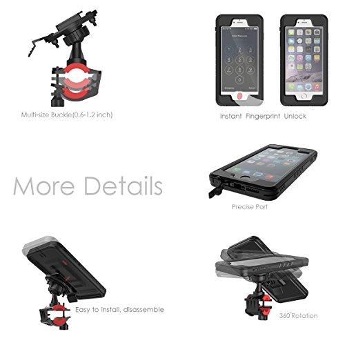 iPhone 6 / iPhone 6s 4.7 Wasserdichte Hülle, FindaGift Fahrradhalterung Handy Tasche Case Halterung Halter Bike Mount Holder Outdoor Handyhülle mit Displayschutzfolie für iPhone 6 / iPhone 6s 4.7 Schw