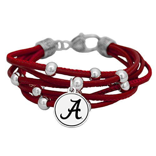 SAS Alabama Crimson Tide Multi Line Red Leather Bracelet Jewelry Licensed UA Gift