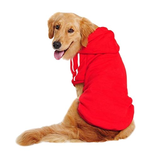 LESYPET Big Dog Hoodies Sports Clothes, 3XL, Red