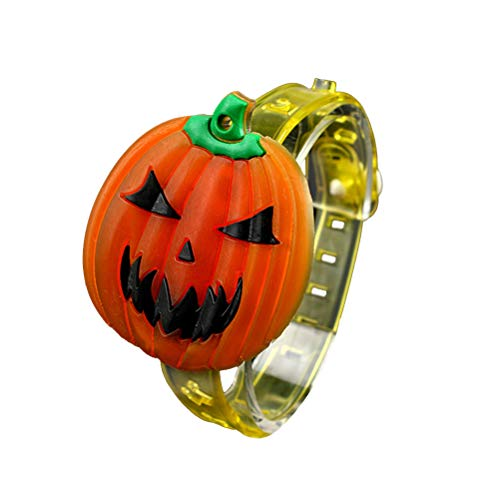 BESTOYARD Children Luminous Wristbands for Halloween Chritmas Festival Dance Party(Pumpkin)