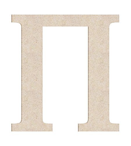 """12"""" Greek Symbol Pi Unfinished Wood Letter (Sizes 12""""-30"""")"""