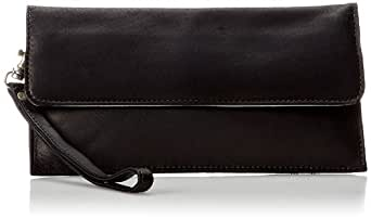 Piel Leather Travel Wallet, Black, One Size
