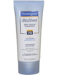 Neutrogena Ultra Sheer Dry-Touch Sunscreen Broad Spectrum SPF 70, 3 Fl. oz.