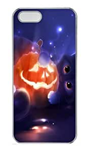 Halloween pumpkin and cat PC Case Cover for iPhone 5 and iPhone 5s ¡§C Transparent