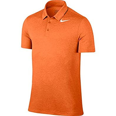 f1914e1d Nike Men's Breathe Heather Golf Polo (Bright Mandarin, Medium ...