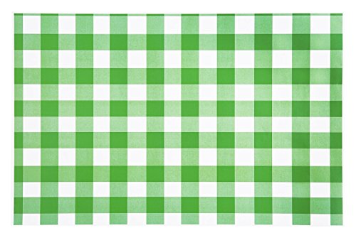 Paper Placemats Table Mats Table Decor Pk 50 Green Checkered Gingham