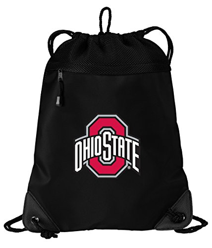 (Broad Bay OSU Buckeyes Drawstring Bag Ohio State University Cinch Pack Backpack Unique MESH & Microfiber)