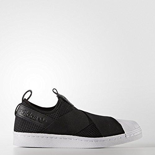 ストローク一回役員日本国内正規品 adidas アディダス オリジナルス スリッポン [SS SlipOn W] ブラック/ブラック/ホワイト BY2884