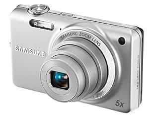 Samsung ST65 cámara digital (Micro-SD, 14,2 Megapixel, 5x zoom óptico, pantalla de 2.7 pulgadas, estabilizador de imagen) [Importado de Alemania] plateado