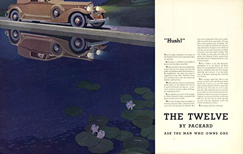 Hush! The Packard Twelve Cabriolet Coupe ad 1933 F for sale  Delivered anywhere in USA
