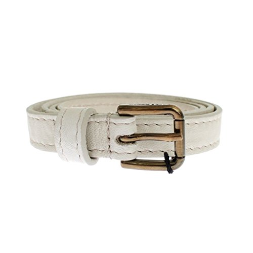 Gabbana Womens Belts (Dolce & Gabbana White leather belt)