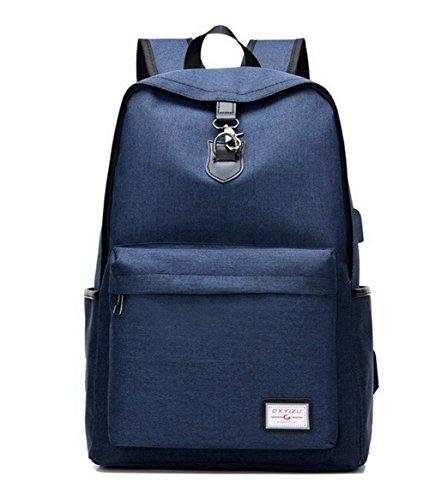 Sacs bandoulière Sacs à Bleu AllhqFashion Daypack Zippers à École Dacron Femme Gris dos qnwA8II60Y