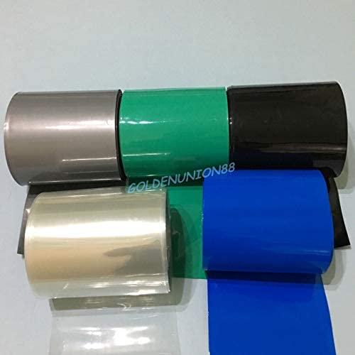 Green Φ102mm Battery Sleeve Wrap PVC Heat Shrink Tubing Flat Width 160mm x 1M