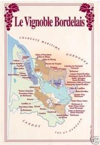 Carte Des Vins Bordeaux.Torchon Idee Cadeau Carte Des Vins Vignobles Bordeaux