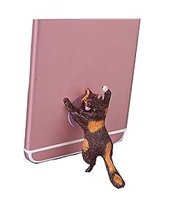 HongShan Universal Cute Cat Cell Phone Holder Tablets Smartphone Holder Desk Car Stand Mount with Sucker Bracket