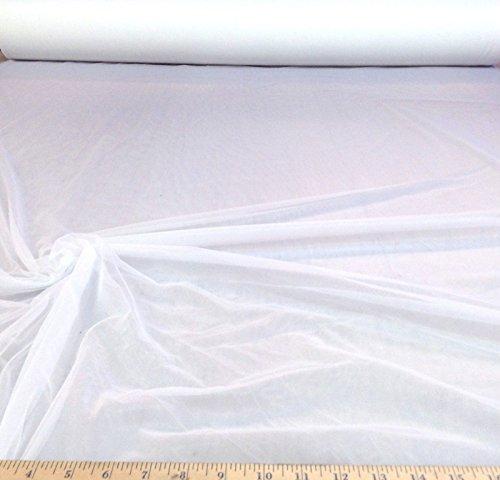 Fabric nylon Tricot White 15 denier Lustre SheerTM