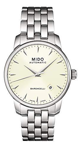 MIDO - Reloj analógico automático para Hombre con Correa de Acero Inoxidable m8600.4.14.1: Amazon.es: Relojes