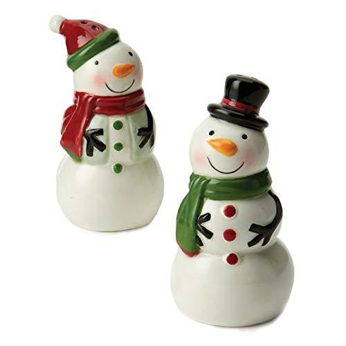 DII Design Imports Ceramic Salt & Pepper Shakers (Snowman) -