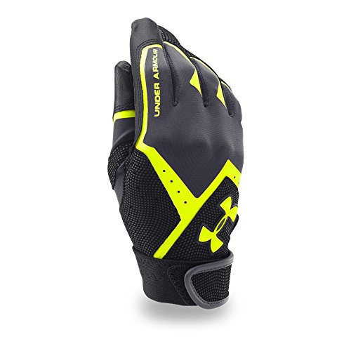 Under Armour Boys' Clean-Up VI Batting Gloves, Stealth Gray/Black, Youth Medium