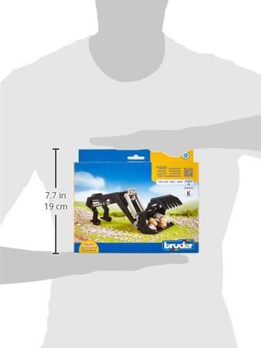 partes de juguetes Negro, Gris, 260 mm, 127 mm, 100 mm Bruder 03333 parte de juguete