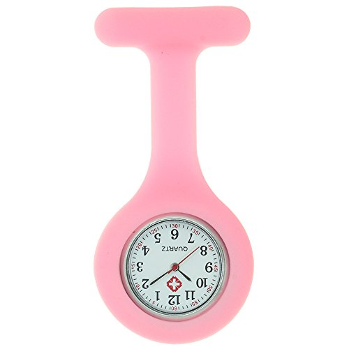 Nurse Watch Brooch Silicone with Pin Clip Glow in Dark Infection Control Design Health Care Nurse Doctor Paramedic Medical Fob Watch