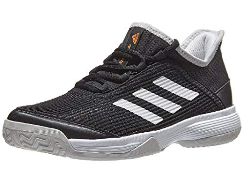adidas Unisex Adizero Club Tennis Shoe, Black/White/Grey, 4.5 M US Big Kid (Girl Shoe Size To Boy Shoe Size)