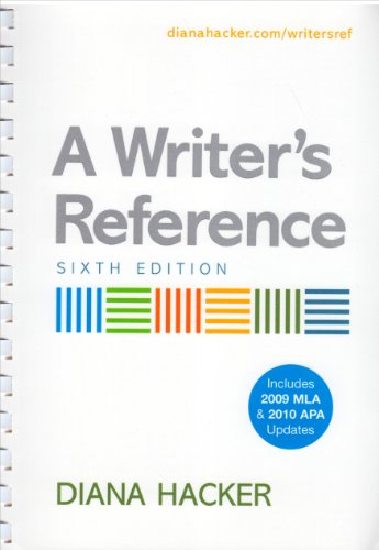 Writer's Reference 6e with 2009 MLA Update & APA Quick Reference Card