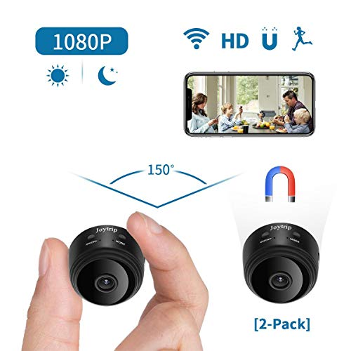Spy Camera Wireless Hidden WiFi HD 1080P Small Nanny Cams Indoor Home Security Motion Detection Nigh Vision Remote View by Android/iOS (2pack)
