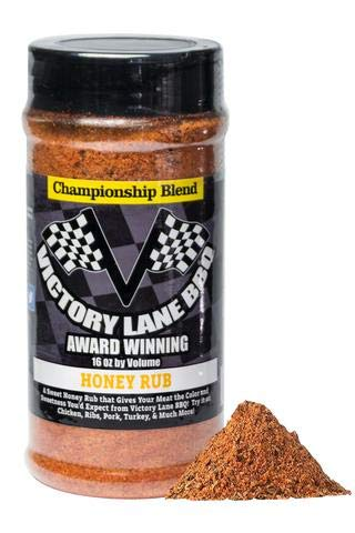 Victory Lane BBQ Honey Rub--VLBBQ Dry Honey Rub 16 oz Shaker of Award-Winning & Competition Pitmaster's Recipe