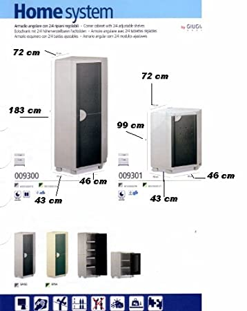 Eckschrank Kunststoff 72 X 99 Cm Amazon De Kuche Haushalt
