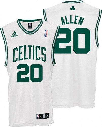 ba40b6cb Amazon.com : Ray Allen Youth Jersey: adidas White Replica #20 Boston ...