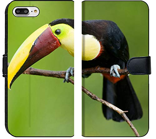 Apple iPhone 8 Plus Flip Fabric Wallet Case Image ID: 6870644 Chestnut mandibled Toucan or Swainsons Toucan Ramphastos swainsonii f ()